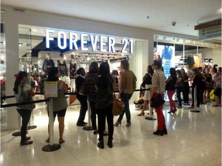 Forever 21 decide fechar todas as 11 lojas nos shoppings da Rede Multiplan